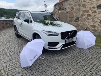 Białe VOLVO XC 90 T8, Samochód, auto do ślubu, limuzyna Słupsk