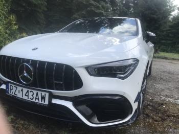 MERCEDES AMG 45S oraz Mercedes CLA 220 4 matic pakiet AMG z kierowca, Samochód, auto do ślubu, limuzyna Tarnobrzeg