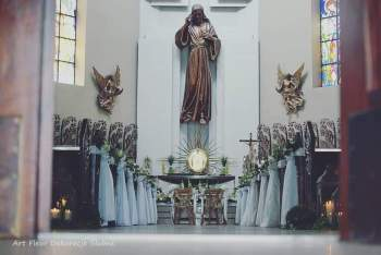 Dekoracja kościoła / dekoracja miejsca ceremoii, Dekoracje ślubne Chodecz
