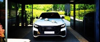 Najnowsze BIAŁE AUDI Q8 na Ślub Wesele | SUV | - luksusowe z klasą, Samochód, auto do ślubu, limuzyna Bytom