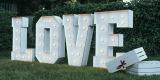 Napis MIŁOŚĆ i LOVE Ścianki ślubne PLENER, Reda - zdjęcie 4
