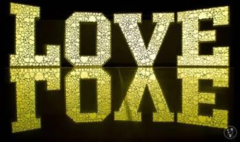 Napis LOVE podświetlany LED RGB (z wzorem w serca), Napis Love Pasym