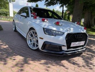 Białe Audi A4 B9,  Jasło
