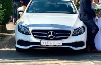 Wynajem auta limuzyny do ślubu wesele Mercedes E klasa szofer kierowca, Samochód, auto do ślubu, limuzyna Dąbrowa Górnicza