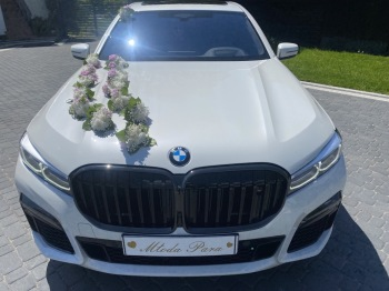 BMW 750LD VIP LIMUZYNA *BIAŁA PERŁA *  LUB INNE OKOLICZNOŚCI, Samochód, auto do ślubu, limuzyna Gdynia