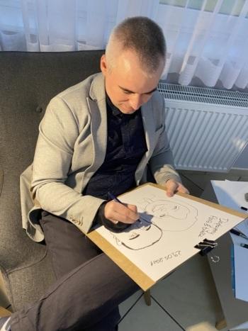 Profesjonalny karykaturzysta - atrakcaja na Twoje wesele, Artysta Wysoka