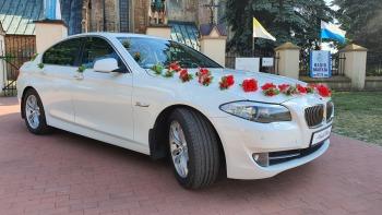 Biała Limuzyna BMW 520f10 kremowy środek + BUS, Samochód, auto do ślubu, limuzyna Poddębice
