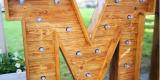 Podświetlany drewniany napis MIŁOŚĆ, Tarnów - zdjęcie 3
