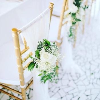 Krzesła chiavari - ślub w plenerze - wynajem, Wypożyczalnia namiotów Gliwice