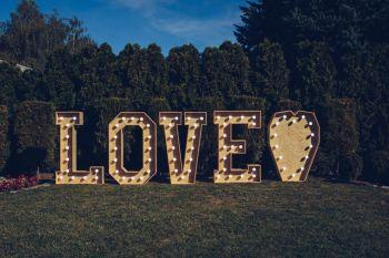 Napis LOVE | Wyjątkowy DESIGN| WESELE,SESJA EVENT|, Dekoracje ślubne Legnica