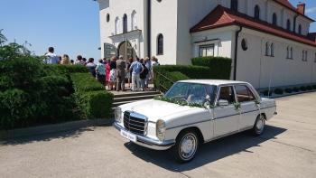 OldGear- Wynajem- Mercedes w114 / Fiat 126p, Samochód, auto do ślubu, limuzyna Brzeg