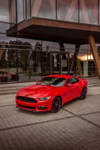 Samochod do ślubu, auto na wesele CZERWONY Mustang GT wynajem, Samochód, auto do ślubu, limuzyna Tyczyn