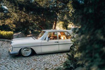 Klasyczny Mercedes Benz S klasa w108 1966 '' Samochód do ślubu '', Samochód, auto do ślubu, limuzyna Łask