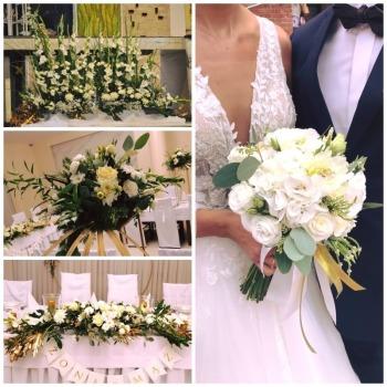 Twoja Kwiaciarnia - Kompleksowa oprawa kwiatowa Twojego wesela!, Dekoracje ślubne Andrespol
