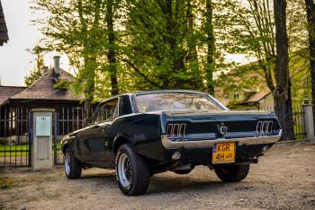Ford Mustang Klasyk do Ślubu 1967, Samochód, auto do ślubu, limuzyna Skała