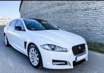 Biały Jaguar xF do ślubu, Samochód, auto do ślubu, limuzyna Ostrołęka