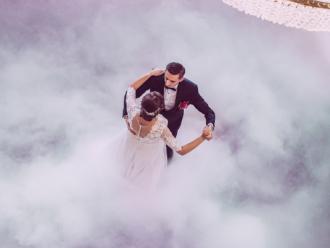 Ciężki dym - taniec w chmurach; bańki; iskry; LOVE; Miłość,  Hrubieszów
