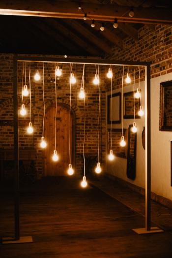 Ścianka do zdjęć | Tło do zdjęć | Serce z żarówek | RETRO | LED, Dekoracje światłem Ostrzeszów