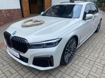 BMW 750LD VIP LIMUZYNA *BIAŁA PERŁA *  LUB INNE OKOLICZNOŚCI, Samochód, auto do ślubu, limuzyna Słupsk