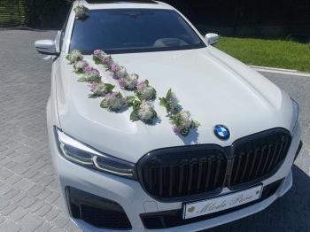 BMW 7 LANG / Luksusowa Limuzyna VIP Auto do ślubu, Samochód, auto do ślubu, limuzyna Pieniężno