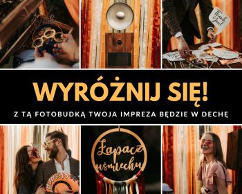 RUSTYKALNA FOTOBUDKA | ŁAPACZ UŚMIECHU | BOHO | KOLOROWA ŚCIANKA, Fotobudka, videobudka na wesele Żory