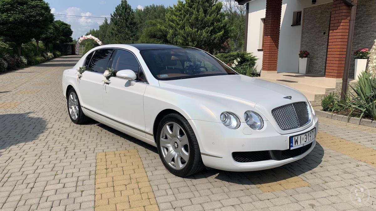 Auto do ślubu - Biały Bentley Continental Flying Spur Perła, Warszawa - zdjęcie 1