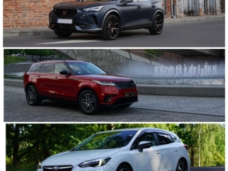 Cupra Formentor VZ310, Range Rover Velar R300, Subaru Impreza STI200,  Katowice