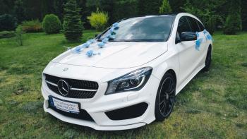 Samochód Auto do ślubu MERCEDES CLA 250, biały, Luksus w dobrej cenie, Samochód, auto do ślubu, limuzyna Koszalin