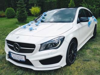Samochód Auto do ślubu MERCEDES CLA 250, biały, Luksus w dobrej cenie,  Szczecinek