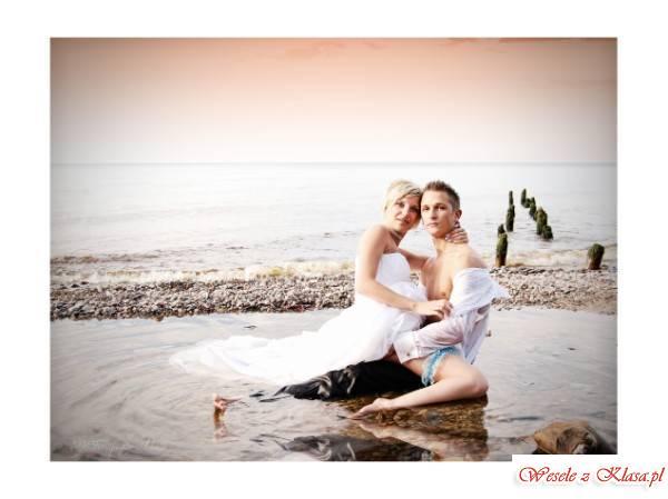 Fotografia ślubna sesja zdjęciowa w plenerze, Słupsk - zdjęcie 1