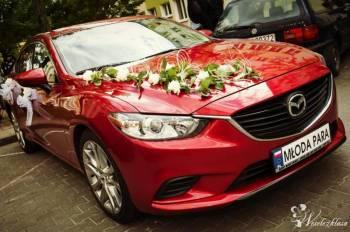 Sportowa czerwona Mazda6 do ślubu, Samochód, auto do ślubu, limuzyna Kórnik