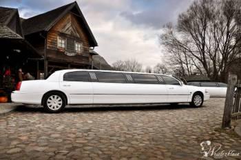 Ekskluzywna *biała* limuzyna Lincoln Town Car, Samochód, auto do ślubu, limuzyna Żary