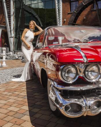 NAJPIĘKNIEJSZE CADILLACI, ZABYTKOWE 1959 1960, Samochód, auto do ślubu, limuzyna Oświęcim