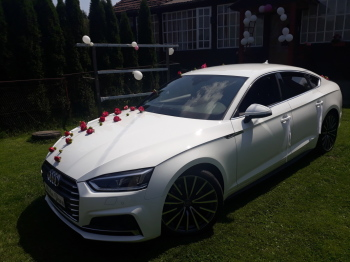 Auto *Białe* Audi A5  S-Line wesela, śluby, Samochód, auto do ślubu, limuzyna Bochnia
