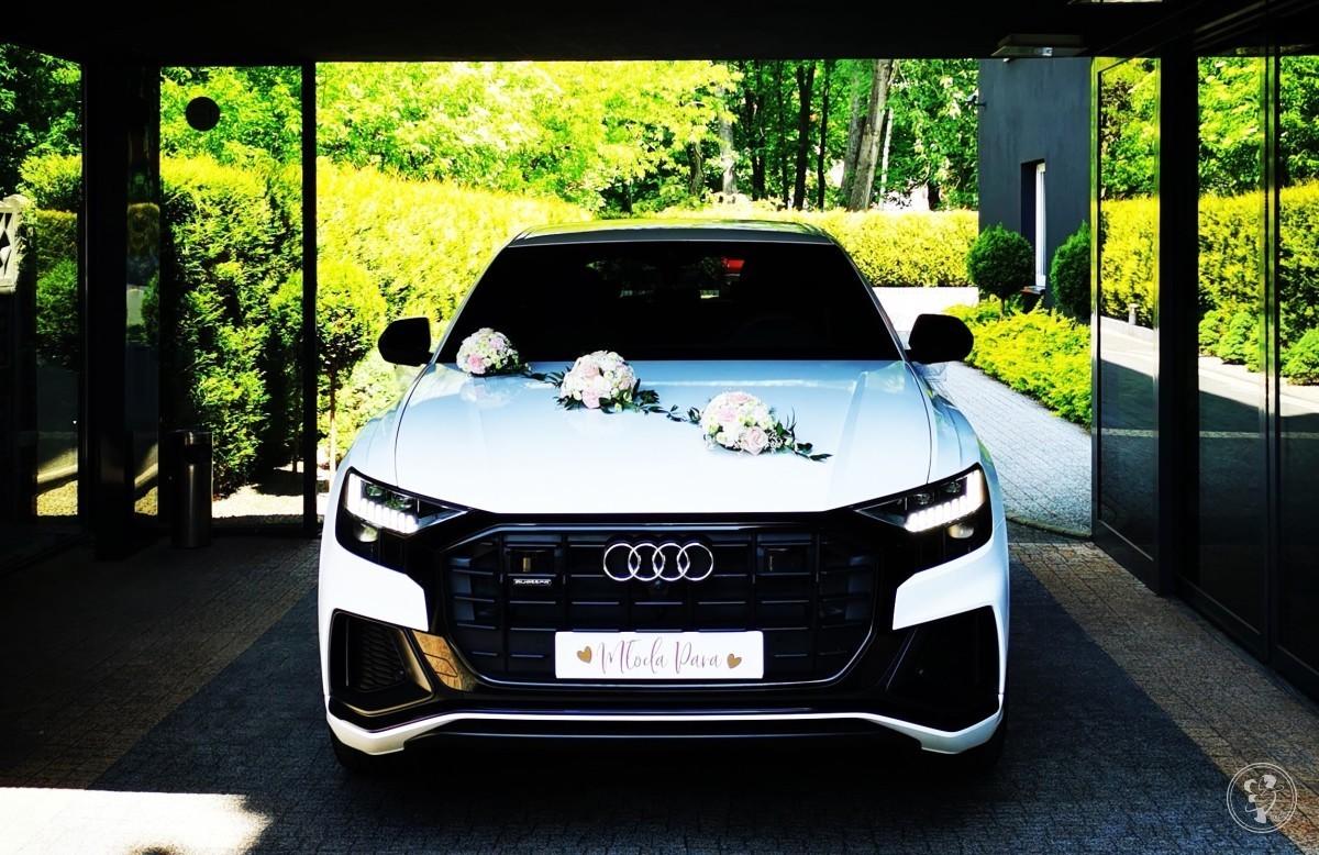 Najnowsze BIAŁE AUDI Q8 na Ślub Wesele   SUV   - luksusowe z klasą, Bielsko-Biała - zdjęcie 1