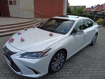 Lexus ES300 Hybrid 218 KM. Biała Perła do Ślubu, Samochód, auto do ślubu, limuzyna Orzesze
