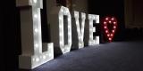 Świecący napis LOVE + serce - na wesele, imprezę, Warszawa - zdjęcie 2