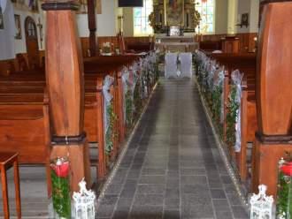 Dekoracja kościoła I sali,  Elgnowo