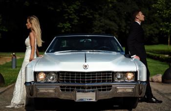 Cadillac Eldorado 1967 Diamond White - amerykański klasyk na Twój ślub, Samochód, auto do ślubu, limuzyna Białobrzegi