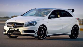 Auto do ślubu/Samochód na ślub/Mercedes na wesele/Biały Mercedes A45, Samochód, auto do ślubu, limuzyna Bielsko-Biała