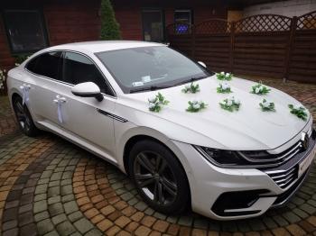 Auto do ślubu - Perłowy Volkswagen Arteon R Line, Samochód do ślubu, Samochód, auto do ślubu, limuzyna Mońki