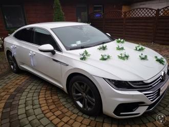 Auto do ślubu - Perłowy Volkswagen Arteon R Line, Samochód do ślubu,  Białystok