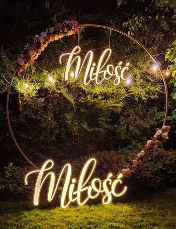 Napisy podświetlane - neon,  ledon, miłosć, better together, Dekoracje światłem Suwałki