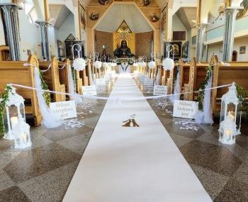 Dekorowanie na zawołanie - dekoracja kościoła, sali oraz wypożyczalnia, Dekoracje ślubne Gdańsk