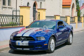 Samochód do ślubu, Auto do ślubu, Mustangiem do ślubu, Ford Mustang, Samochód, auto do ślubu, limuzyna Głogówek