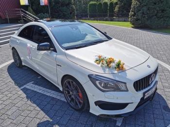 Samochód do ślubu Mercedes CLA 45 AMG 400 KM, Samochód, auto do ślubu, limuzyna Czchów