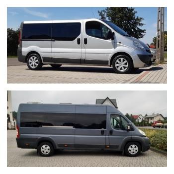 BUS9 wynajem busów 8, 9, 17 osobowych, rozwożenie gości weselnych, Wynajem busów Pilzno