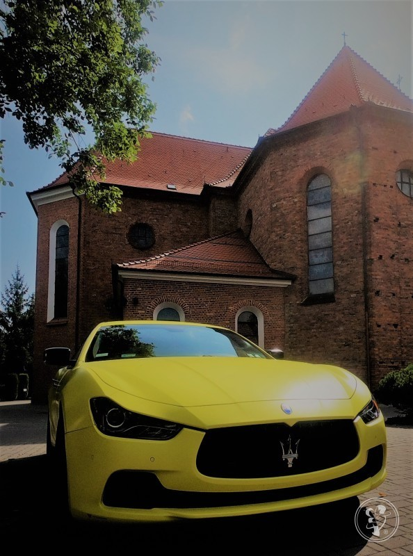 Żółty mat Maserati Ghibli. Jedyny taki samochód w Polsce do ślubu!!, Poznań - zdjęcie 1