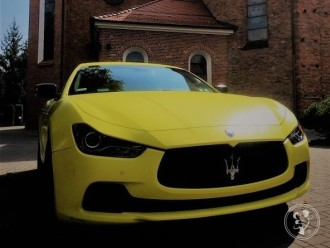 Żółty mat Maserati Ghibli. Jedyny taki samochód w Polsce do ślubu!!,  Poznań