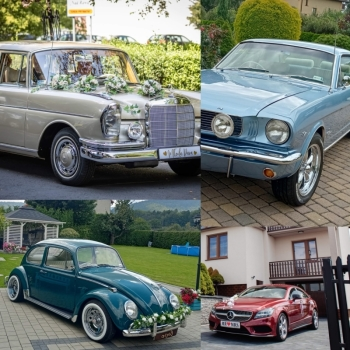 Car Of Love - Mustang Mercedes Garbus boho klasyk zabytek do ślubu, Samochód, auto do ślubu, limuzyna Ustroń
